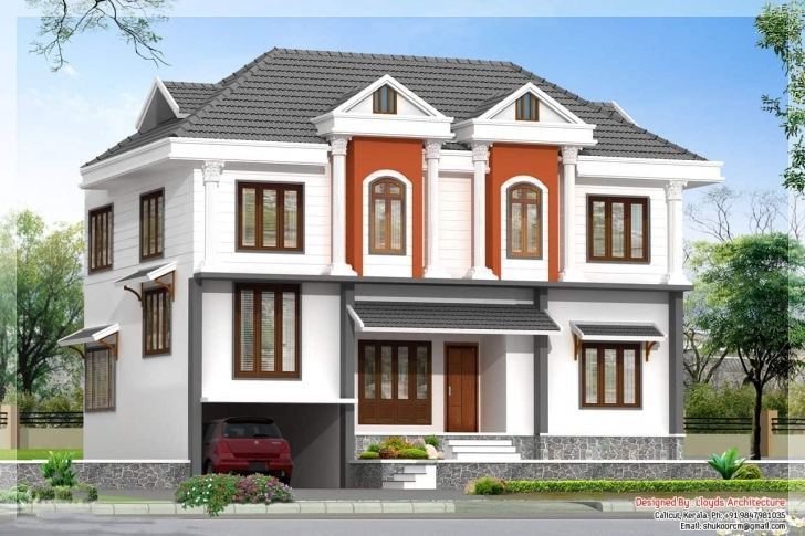 Amazing 2172 Kerala House With 3D View And Plan Kerala House Elevations With 3D View Image