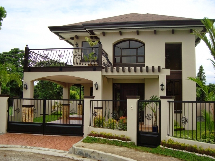 Amazing 33+ Beautiful 2-Storey House Photos Simple Filipino 2 Storey House Design Photo