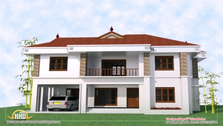Amazing 4 Bedroom 2 Story House Floor Plans In Kerala - Youtube 4 Bedroom Storey Building Plan Photo