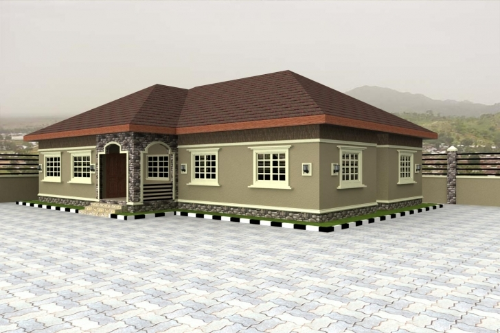 Amazing 4 Bedroom Flat Bungalow Plan In Nigeria | Www.stkittsvilla Plan Of Five Bedroom Flat Photo