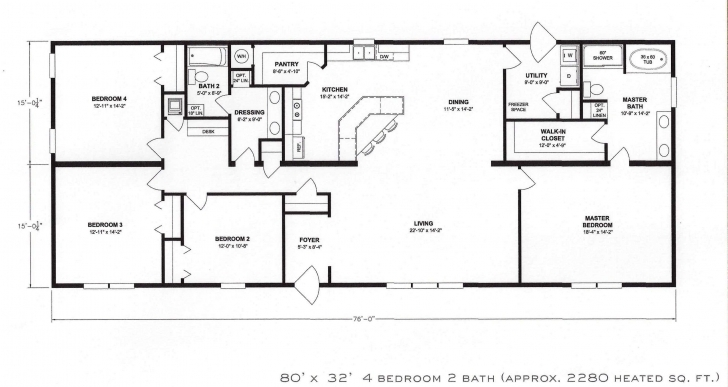 Amazing 4 Bedroom Floor Plan 2 Story House Plans With Garage - Luxury One Simple 4 Bedroom Flat Plan Pic
