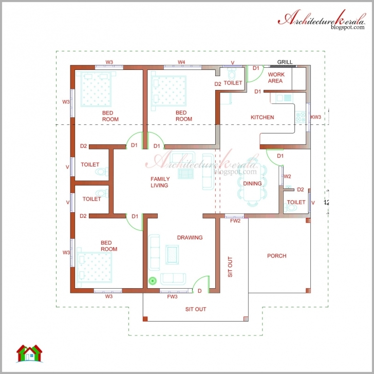 Amazing Architecture Kerala Beautiful Elevation Its - House Plans | #88273 Kerala House Plan Image