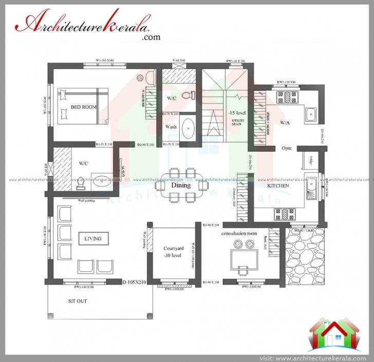 Amazing Bedroom House Plans Kerala Single Floor Pictures Home Drawing For 3 3Bedroom Bungalow Floor Plan In Karala Image