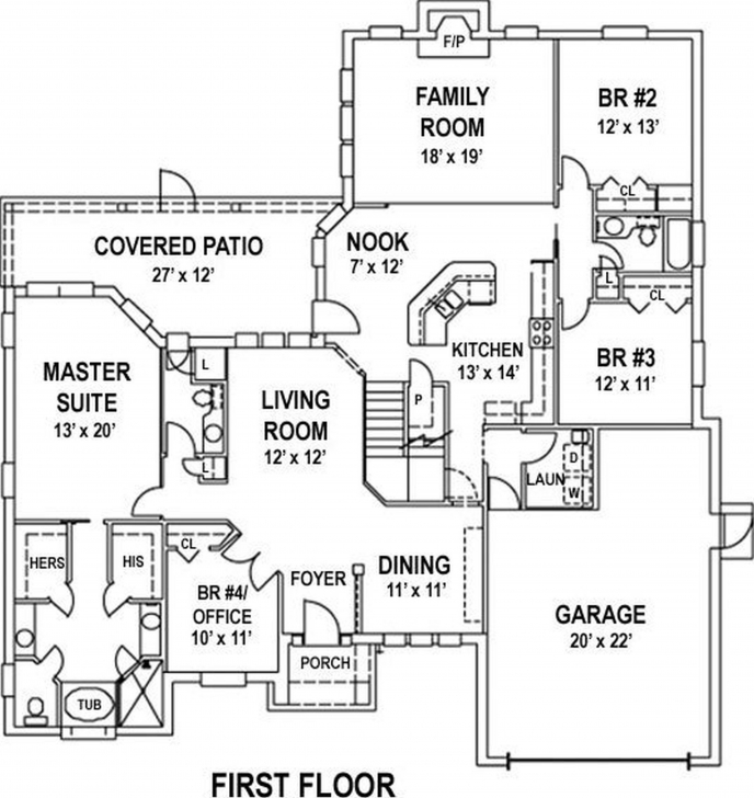 Amazing Draw Simple Floor Plan Online Free | Home Design Free Simple 4 Bedroom House Plans Picture