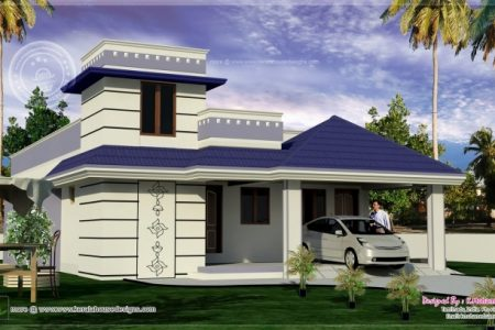 South Indian Single Floor Home