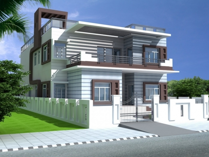 Amazing Front Home Design Simple Extraordinary Duplex House Design House Home Front Design Simple Photo