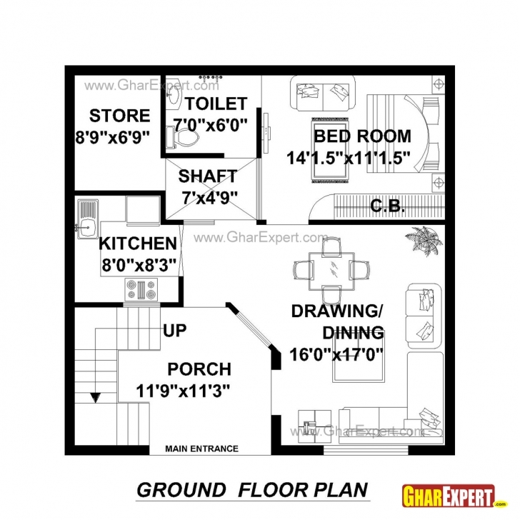 Amazing House Plan For 30 Feet By 30 Feet Plot (Plot Size 100 Square Yards 100 Square Yard House Map Picture