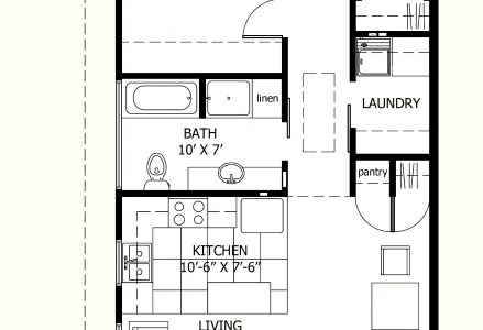 Simple House Plan With 2 Bedrooms In 800Sft
