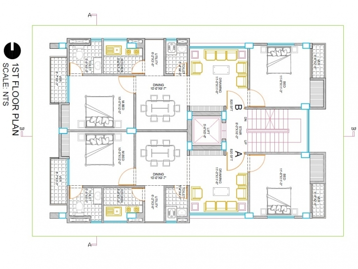 Amazing I Will Create Your Building 2D Floor Plan In Autocad [Fiverr Gig Autocad 2D Residential Building Plan Picture