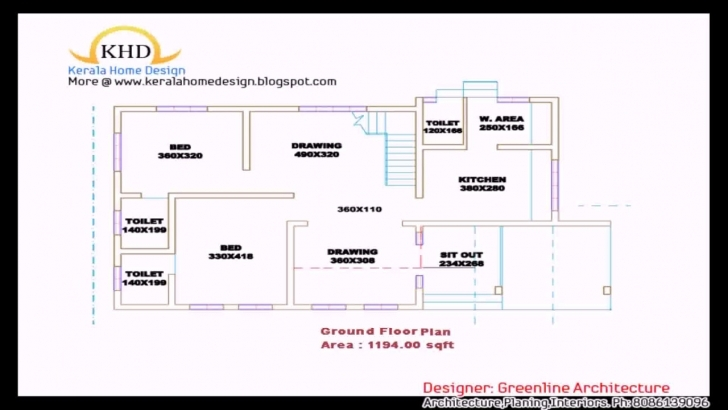Amazing Kerala Style 3 Bedroom House Plans Single Floor - Youtube Three Bedroom House Plans Kerala Style Image