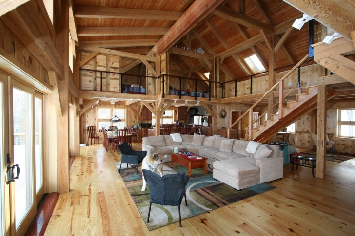Amazing Metal Barn House, Pole Barn Home's Interior Barn Home Interiors House Inside Metal Pic
