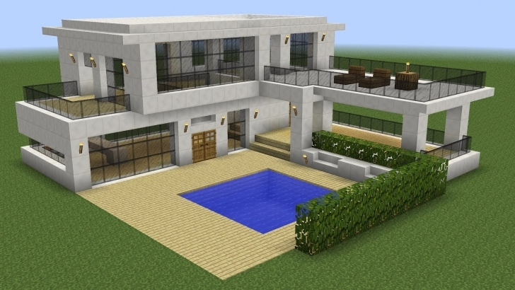 Amazing Minecraft - How To Build A Modern House 5 - Youtube Modern House Buildings Photo