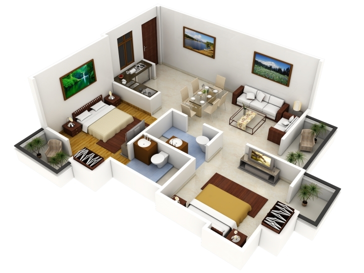 Amazing Sweet 3D House Plans 3D Floor Plan For House 3D Floor Plan 3D House Plan 3D Images Pic