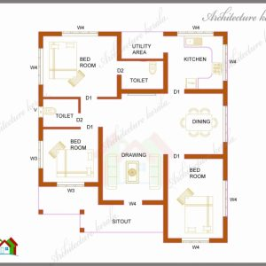 House Plans In Kerala With 3 Bedrooms