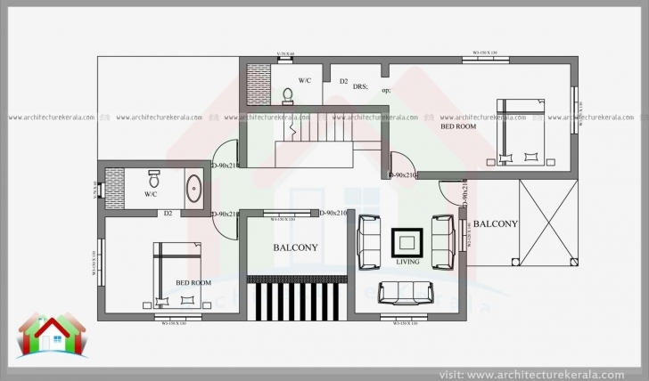 Astonishing 2400 Square Feet 4 Bedroom House Plan And Elevation Can Construct In 4 Cent House Plans Image