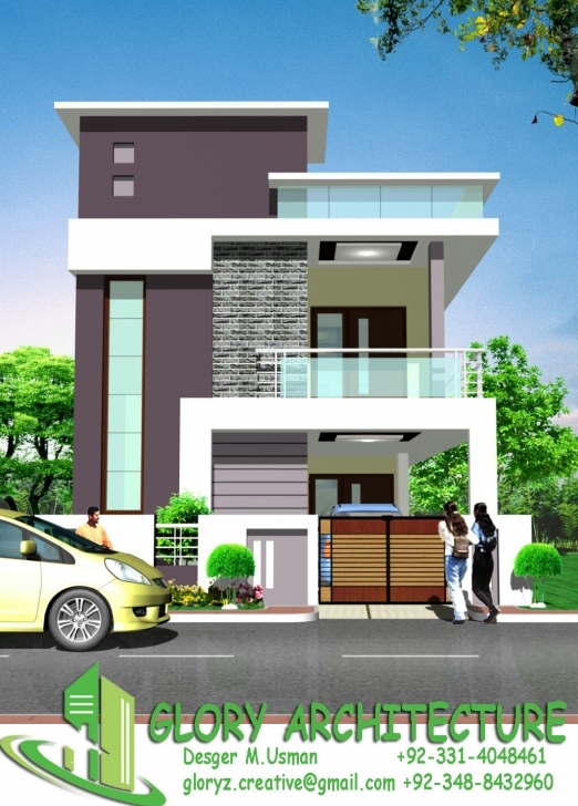 Astonishing 25X30 House Plan, Elevation, 3D View, 3D Elevation, House Elevation 15*50 Row House Elevation Pic