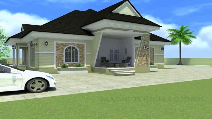 Astonishing 4 Bedroom Bungalow House Plans Uk - Youtube 4 Bedroom Bungalow Pic