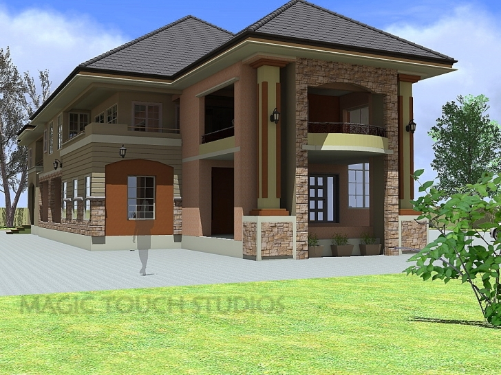 Astonishing 4 Bedroom Duplex With Attached Two Bedroom Flat. Modern Duplex Plans In Nigeria Image