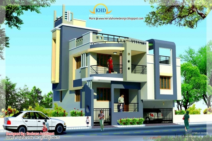 Astonishing Duplex House Plan And Elevation - 1770 Sq. Ft. | Home Appliance Rachana Architects North Face Elevation Photo