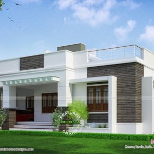 Simple Single Floor Home Front Design