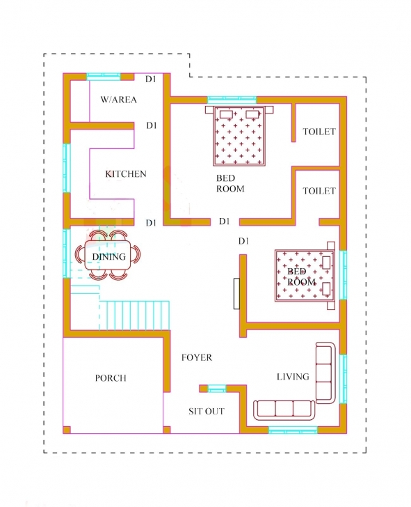 Astonishing Kerala House Plans With Estimate 20 Lakhs 1500 Sq.ft | House Floor Kerala House Plans 1500 Sq Ft Picture