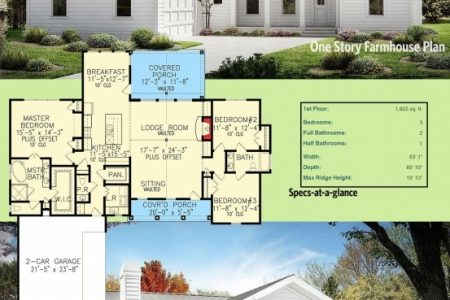Modern Farmhouse Plans One Story