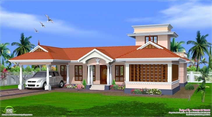 Astonishing Style Single Floor House Design Kerala Home Plans - Building Plans Single Floor House Front Design Kerala Style Pic