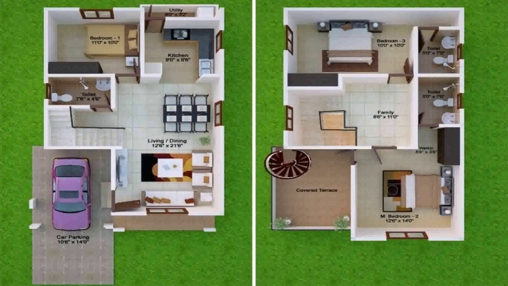 Awesome 30X50 Duplex House Plans North Facing - Youtube 30*50 House North Facing Design Pic
