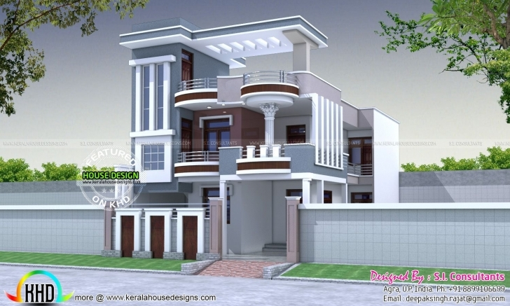 Awesome 30X60 Modern Decorative House Plan | Modern And House 20 X 60 House Front Elevation Pic