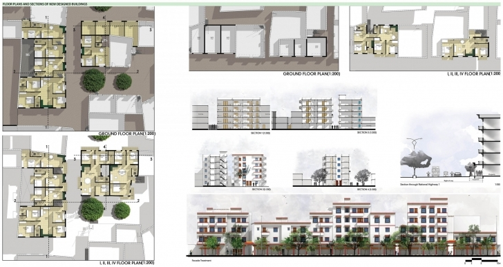 Awesome Archiprix Project: P15-2458 Economically Weaker Section Housing Plans Picture