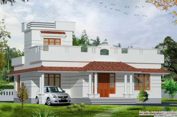 Awesome Front Elevation Of Single Floor House Kerala Drawing 2018 With Single Floor House Front Elevation Designs In Kerala Pic