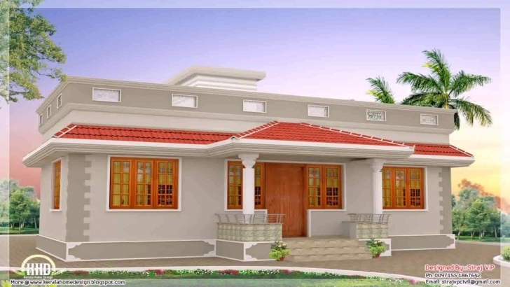 Awesome Home Front Design In Single Floor - Youtube Single Floor Home Front Design In Kerala Pic