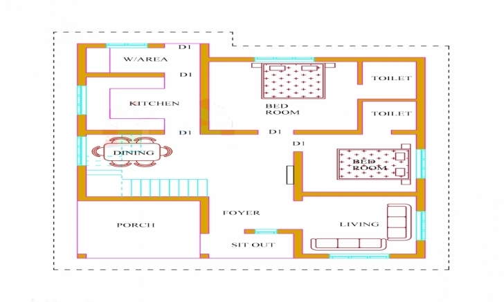 Awesome Kerala House Plans Bedroom Lrg Ccaacff - Surripui Two Bedroom House Plans Kerala Style Photo