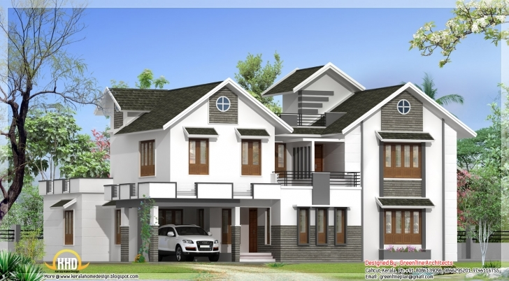 Awesome Modern 4 Bedroom Kerala Home Elevation | Kerala Home Design,kerala 4 Bedroom Modern House Plans In Kerala Pic