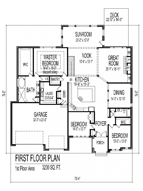 Awesome Tuscan House Floor Plans Single Story 3 Bedroom 2 Bath 2 Car Garage Simple 3 Bedroom House Floor Plans Single Story Photo