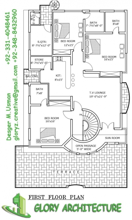 Best 14 Best 1 Kanal House Plan Images On Pinterest | 3D House Plans 1 Kanal House Plan Pic