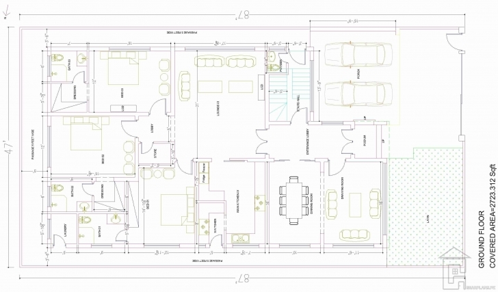 Best 15 Marla House Map Ground Floor | House Plans | Pinterest | House 15 Marla House Plan Photo