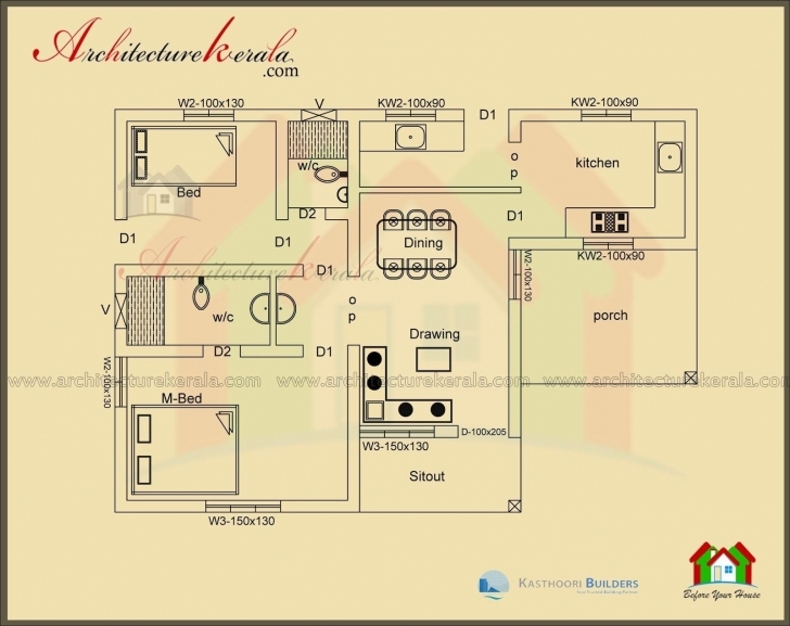 Best 2 Bedroom House Plans Kerala Style 1000 Sq Feet | Matasanos 1000 Sq Ft House Plans 3 Bedroom Kerala Style Pic