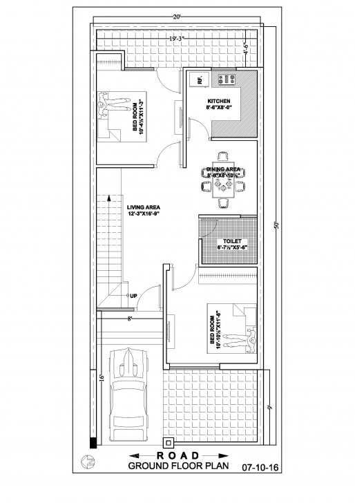 Best 20×50 Duplex House Floor Plan – Ghar Banavo 20*50 House Plan Image