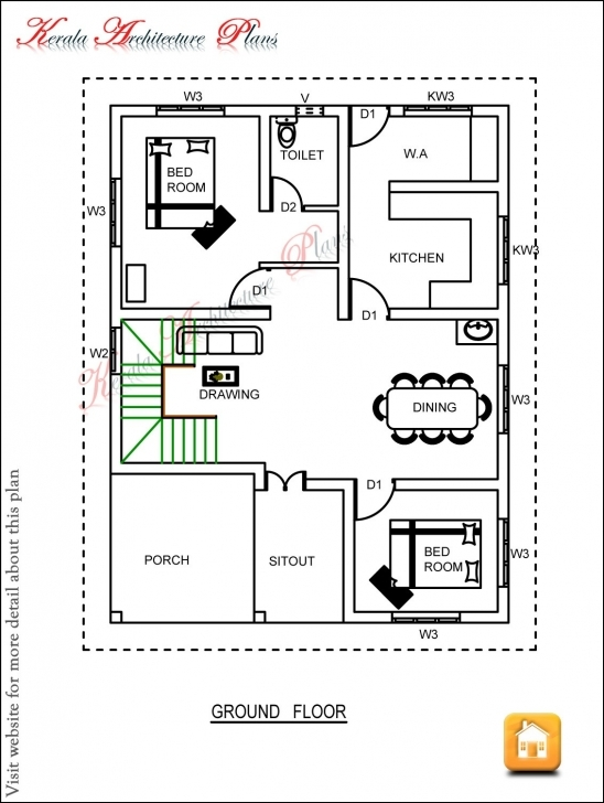 Best 3 Bedroom Home Plans Kerala New Floor Plan Prestige Double Planning House Plans In Kerala With 3 Bedrooms Image