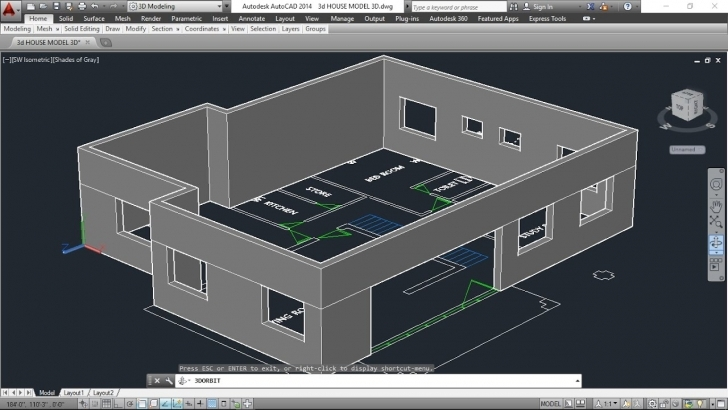 Best 3D House Model Part-2 Autocad Basic 2D & 3D Bangla Tutorials Plan Autocad 2D Plan To 3D Pic