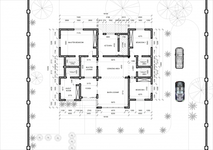 Best 4 Bedroom Bungalow House Designs Floor Plan Of 5 Bedroom Bungalow 4Bedroom Bungalow And The Floor Plan Image