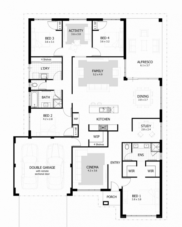 Best 4 Bedroom Bungalow House Plans Luxury Incredible 4 Bedroom Bungalow 4 Bedroom Bungalow Plan In Nigeria Pic