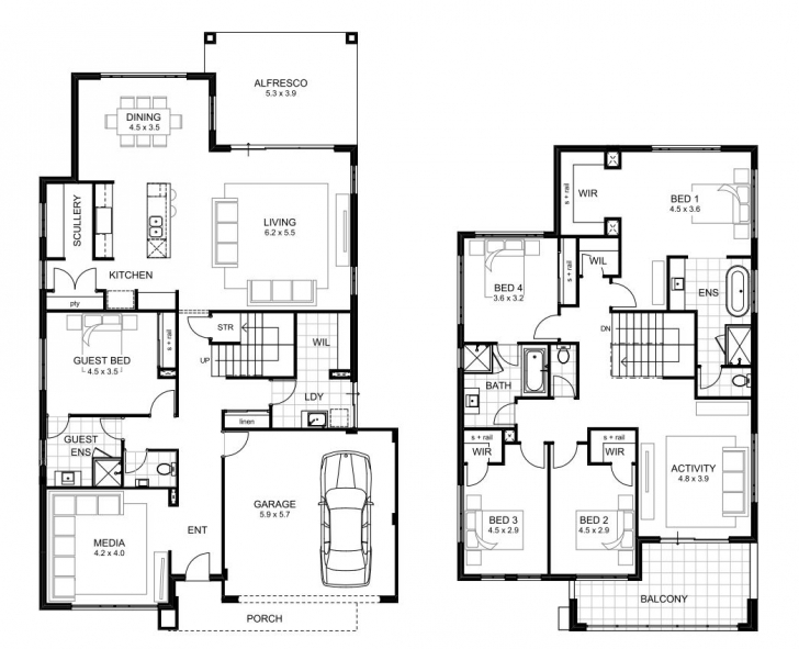Best 5 Bedroom House Designs Perth | Double Storey | Apg Homes 5 Bedroom House Plans Image
