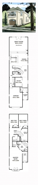 Best 56 Best Narrow Lot Home Plans Images On Pinterest | Narrow Lot House Home Map 16*50 Feet Image