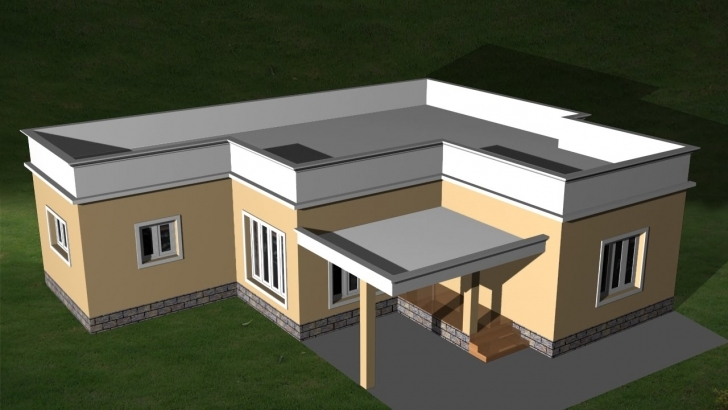 Best Autocad 3D House - Creating Flat Roof | Autocad Flat Roof - Youtube 3D House Plain Image