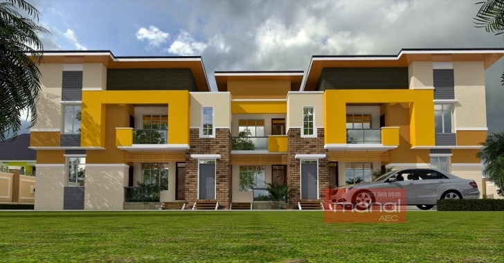 Best Contemporary Nigerian Residential Architecture How Many Blocks Can Build Three Bedroom Flat Pic