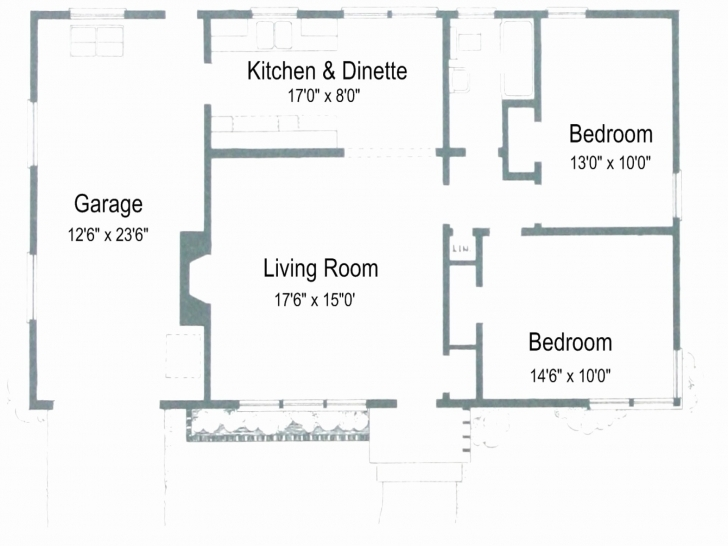 Best Floor Plans Without Garage Luxury Simple House Plan With 2 Bedrooms Simple House Plan With 2 Bedrooms And Garage Image
