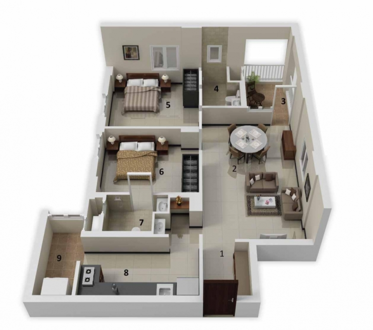 Best Home Design: More Bedroom D Floor Plans 20*50 Plot Design, Charming 20*50 Plot Home Design Photo