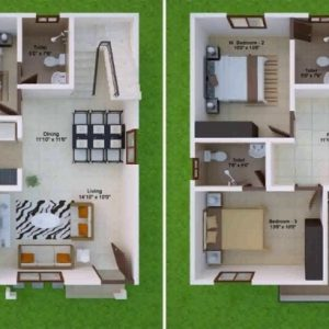 20 By 30 Indian House Plans 3D